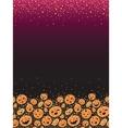 Halloween pumpkins vertical decor background vector image vector image