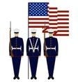 Honor Guard in the United States vector image vector image