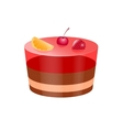 icon cake with jelly vector image vector image