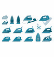 icons irons symbols ironing vector image vector image