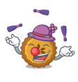 juggling apple pie isolated in the mascot vector image vector image