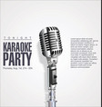 karaoke party retro background vector image vector image