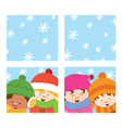 Kids Looking Through Window vector image vector image