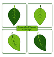 leaf green icons vector image vector image