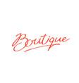logo word boutique brand company vector image