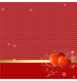 love retro wallpaper vector image vector image