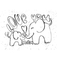 love you mother - greetings card with animals vector image