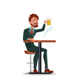 man in business suits relaxing at the bar with vector image vector image