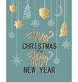Merry Christmas and Happy New Year luxury vector image vector image