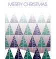 merry christmas blizzard with fir trees and landsc vector image vector image