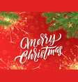 merry christmas calligraphy lettering and xmas vector image