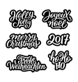 Merry Christmas labels set vector image vector image