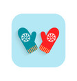 mittens christmas flat icon holiday symbol vector image