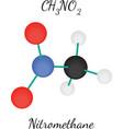 Nitromethane CH3NO2 molecule vector image vector image