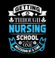 nurse t shirts design typographic quotes design vector image vector image