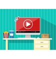 Online home cinema concept vector image
