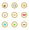 ottawa icons set cartoon style vector image vector image