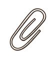 Paper clip symbol vector image vector image