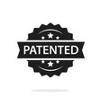 patented label badge stamp black and white vector image vector image