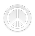 Peace symbol button vector image vector image