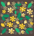 retro styled cute floral background vector image vector image