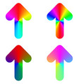 Rounded gradient rainbow arrow icon design set vector image vector image