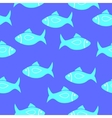 Seamlessly fish pattern vector image vector image