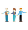 set of human characters in flat design vector image