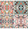 set of traditional ornamental paisley bandanna vector image vector image