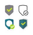 shield icons set symbols flat cartoon and vector image