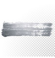 silver paint brush stain or smudge stroke vector image vector image