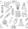 sketch seamless laboratory pattern vector image
