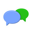 speech chat bubbles on white background vector image vector image