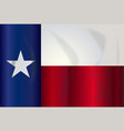 state flag of texas vector image vector image