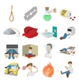 Suicide icons set vector image vector image