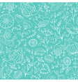 Teasweets bird and flowers Seamless doodle pattern vector image vector image