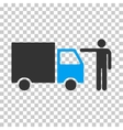 Truck Customer Eps Icon