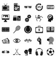 video transmission icons set simple style vector image vector image
