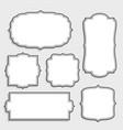 vintage empty white labels set vector image vector image