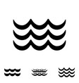 wave black and white icons vector image vector image