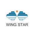 wing star logo vector image vector image