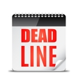 Deadline Word on Calendar vector image