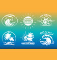 summer typography emblem set vector image