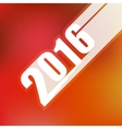 2016 inscription on blurred red background vector image vector image