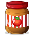 A jar of tomato jam vector image