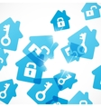 abstract background house vector image