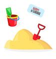 babucket sand shovel toys vector image
