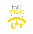 baby store kids logo colorful hand drawn vector image