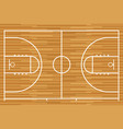 basketball court with parquet wood board