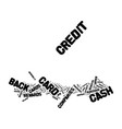benefits cash back credit cards text vector image vector image